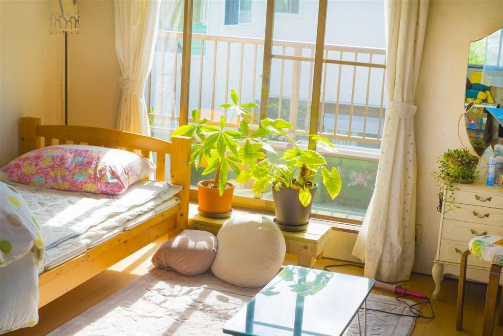 晴れた日の室内