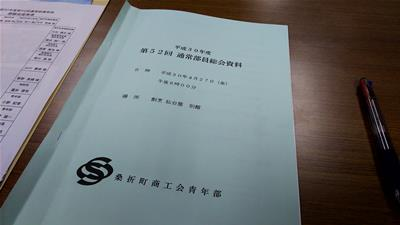 商工会青年部総会資料