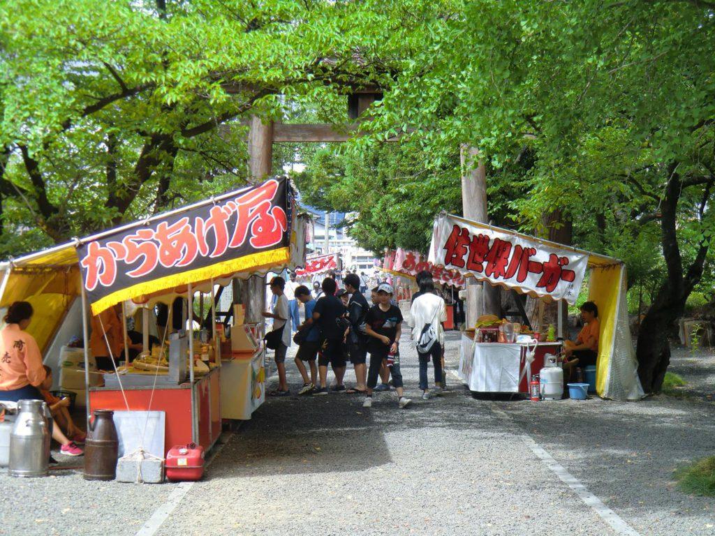 諏訪神社お祭り出店