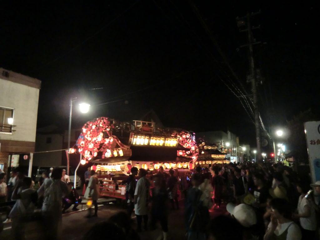 諏訪神社例大祭_夜の様子