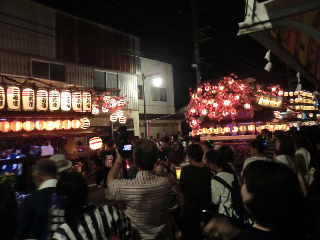 諏訪神社例大祭_夜の様子2