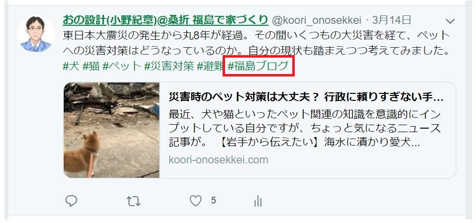 #福島ブログ使用例