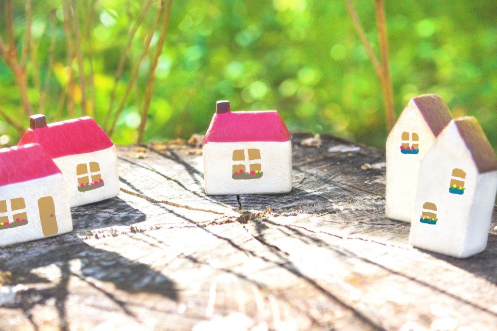 小さな家並み