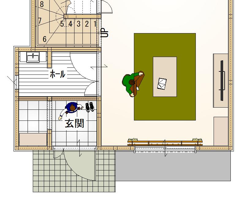 玄関平面図02